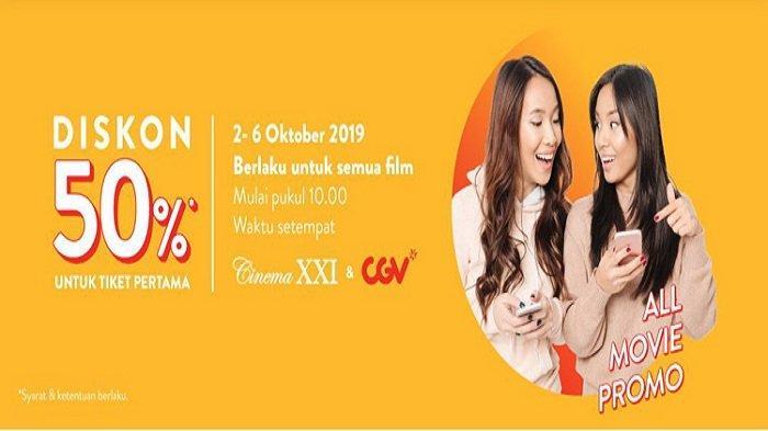 YUK! BURUAN Promo Diskon 50 Persen untuk Nonton Film-film Keren di Bioskop Cinema XXI