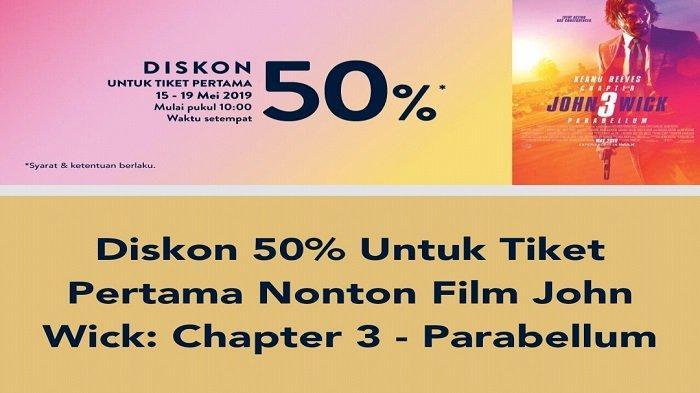 Promo TIX ID Diskon 50 Persen Pembelian Tiket Pertama Film John Wick: Chapter 3 - Parabellum