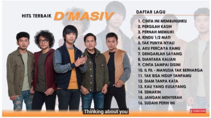Download Lagu D'masiv Full Album, Gudang Lagu MP3 Disertai Link Download dan Streaming