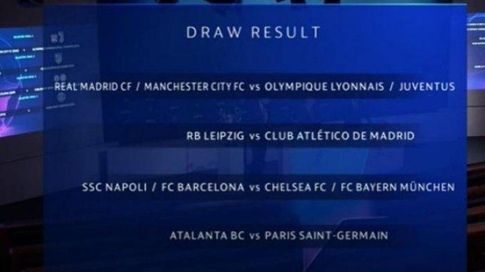 Undian Perempat Final Liga Champions, Real Madrid Bentrok Man City dan Simak Drawing Tim Lain