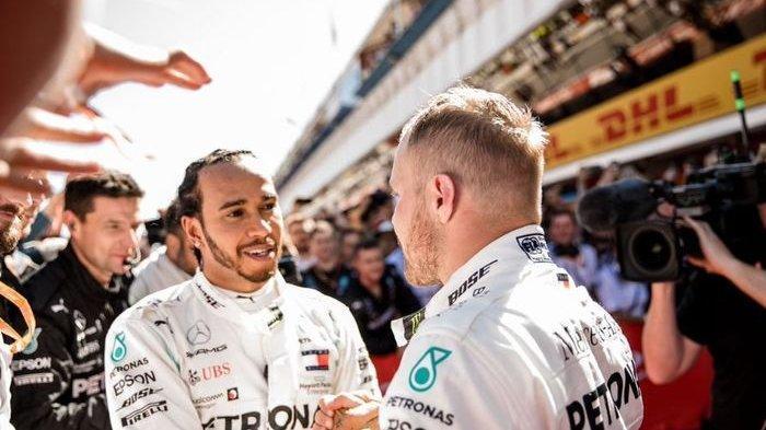 Pembalap Mercedes, Lewis Hamilton Tercepat, Bottas Tampil Heroik di Sirkuit Yas Marina