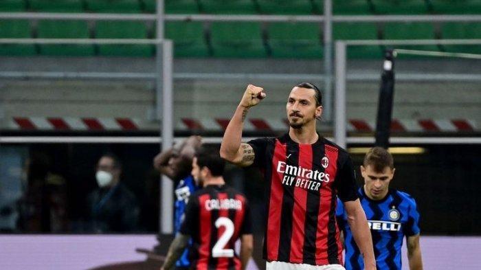 Alasan Pelatih AC Stefano Pioli Tak Ganti Zlatan Ibrahimovic Saat Lawan Inter Milan Walau Ibra Minta