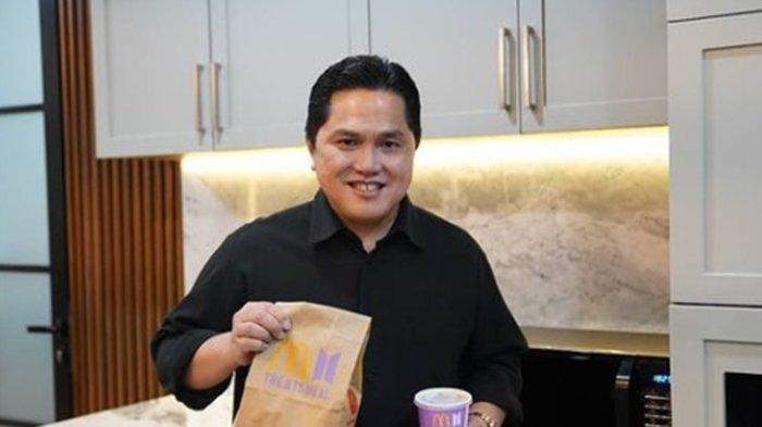 Demi Anak Bungsunya, Menteri BUMN Erick Thohir Ikut Berburu BTS Meal McDonalds