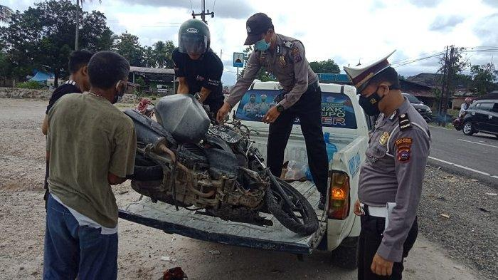 Tabrakan Maut Honda Vario Vs Truk Colt Diesel di Sicincin, Pemotor Tewas di Tempat
