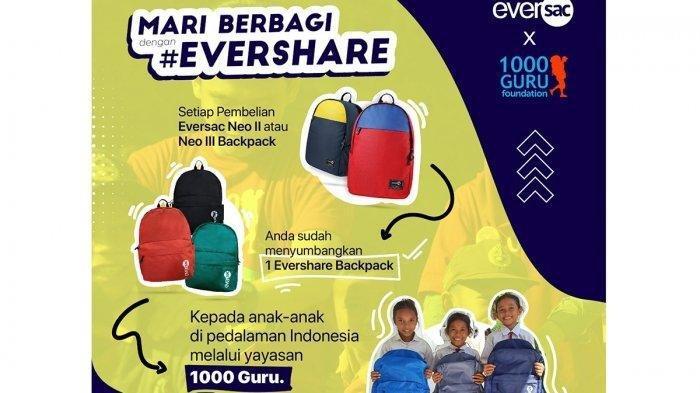 Gramedia & Eversac Berbagi Tas untuk Pelajar di Pedalaman, Kolaborasi dengan 1.000 Guru