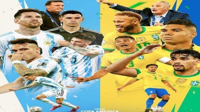 STARTING XI Argentina vs Brasil, Final Impian Copa America 2021: Uji Tuah Kiper Emiliano dan Ederson