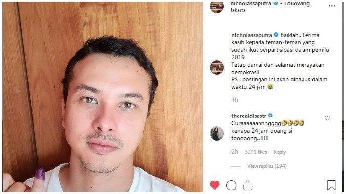 Foto Selfie Nicholas Saputra Jadi Sorotan, Trending Topik Dunia Hingga Diberitakan Media Thailand