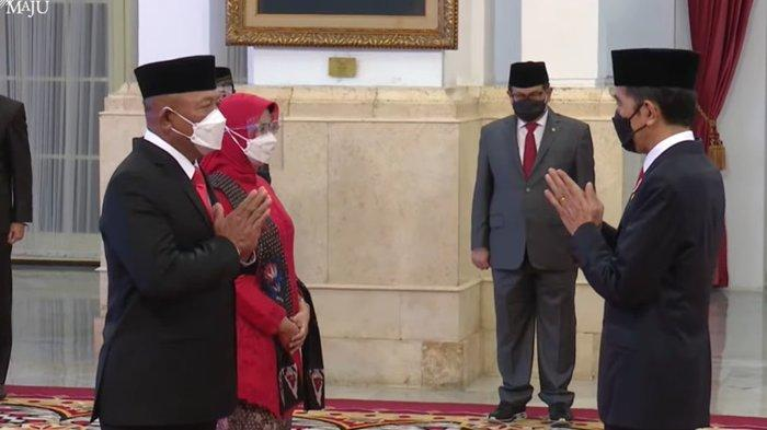 Presiden Jokowi melantik Letjen Ganip Warsito sebagai Kepala BNPB menggantikan Letjen TNI Doni Monardo.