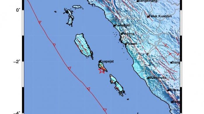 UPDATE Gempa Bumi Tektonik M 5,7 Guncang Kepulauan Mentawai, BPBD: Tidak Ada Laporan Kerusakan