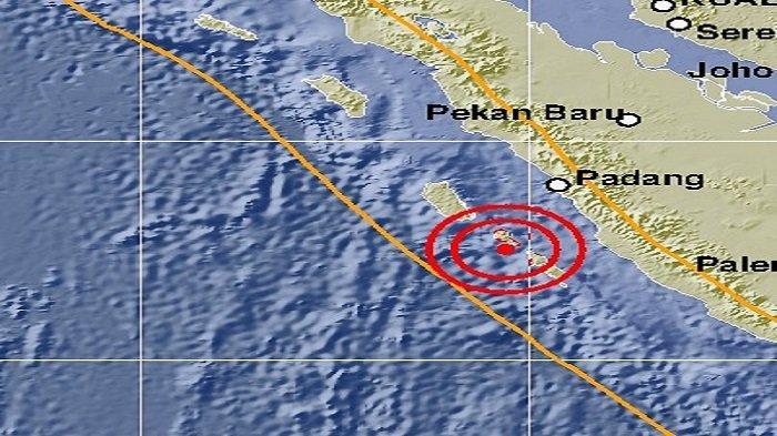 Gempa Guncang Mentawai Kekuatan 5.2 SR Terasa Sampai ke Kota Padang