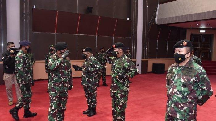 2 Pangkogabwilhan dan 23 Perwira Tinggi Naik Pangkat, Panglima TNI Terima Laporan