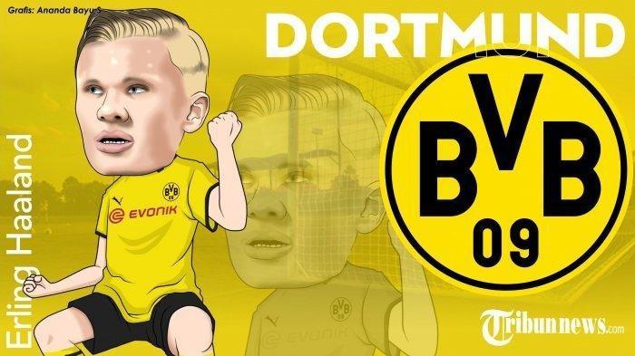 Ilustrasi: Erling Haaland, Pemain Borussia Dortmund