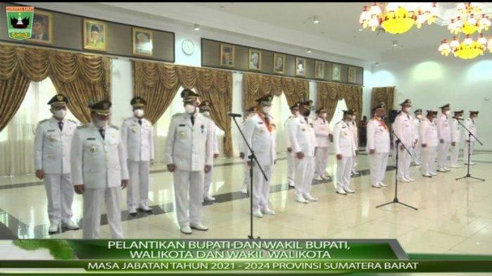 Rincian Nama Wali Kota dan Bupati Baru yang Dilantik Gubernur Sumatera Barat