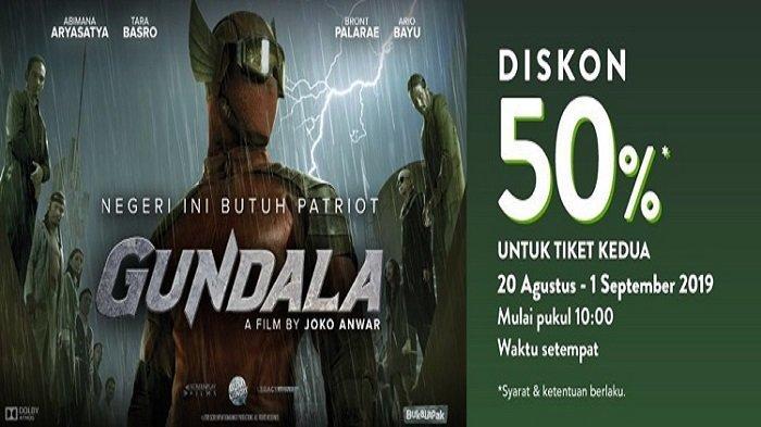 Diskon 50 Persen bagi Pengguna TIX ID yang Melakukan Pembelian Tiket Kedua untuk Film Gundala