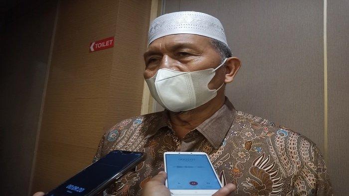 Bupati Pasaman Barat Hamsuardi saat ditemui dalam acara Rakor Bupati Wali Kota di Hotel Pangeran, Padang, Kamis (10/6/2021).