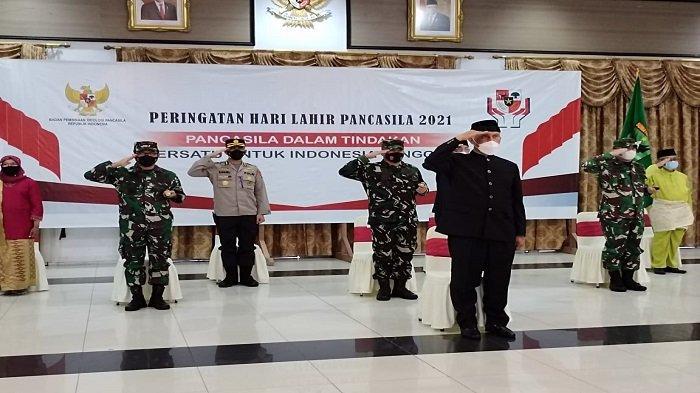 Gubernur Mahyeldi Bersama Forkopimda Sumbar Ikuti Upacara Virtual, Peringati Hari Lahir Pancasila