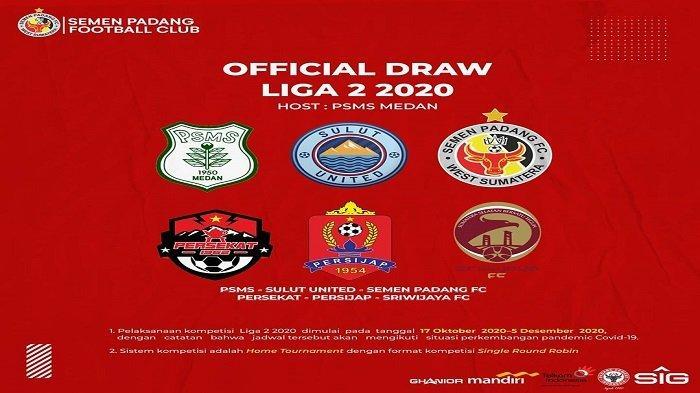 Hasil Drawing Liga 2 2020 Tim Semen Padang FC Berada di Grup Neraka, Tetap Optimis Kembali ke Liga 1