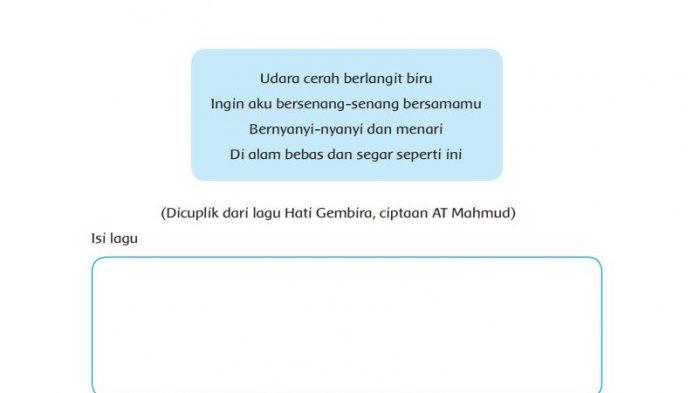 Isi Dan Tempo Yang Sesuai Lagu Hati Gembira Ciptaan At Mahmud Tribun Padang