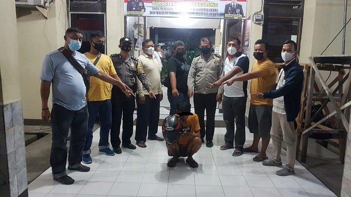 Pencuri Helm di kampus UPI YPTK Padang Dibekuk, Polisi Nyamar Jadi Pembeli Lewat Jual Beli Online