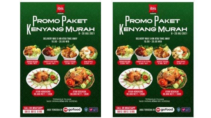 Hotel Ibis Padang Hadirkan Promo Paket Kenyang Murah (PPKM), Makan Enak Mulai Rp 25 Ribu Saja