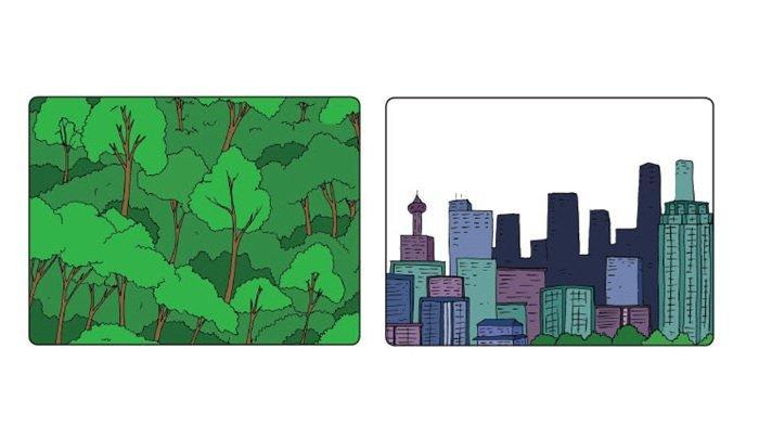 hutan dan gedung