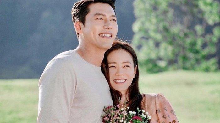 Ilustrasi pasangan (Hyun Bin, Son Ye Jin)