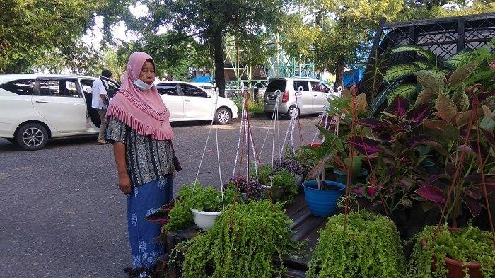 Curahan Hati Penjual Tanaman Hias di Gor H Agus Salim, Sulit untuk Menetapkan Harga