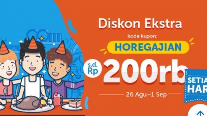 Diskon Ekstra Traveloka Eats Hingga Rp 200 Ribu Setiap Hari, Buruan Lihat Syarat dan Ketentuannya !