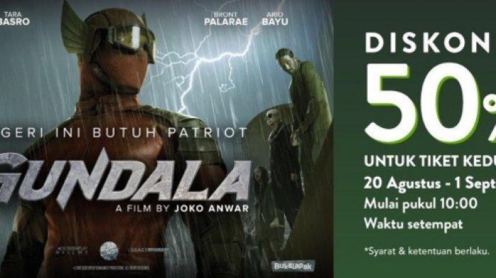 Hari Ini Masih Ada Diskon 50 Persen Tiket Kedua untuk Pre-Sale Judul Film Gundala