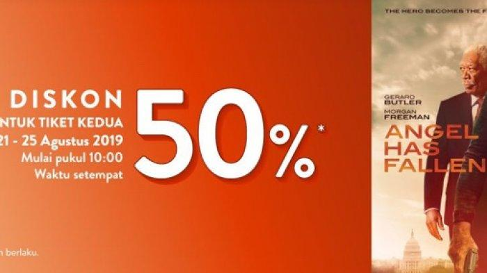 Diskon 50 Persen untuk Pembelian Tiket Kedua Film Angel Has Fallen di TIX ID