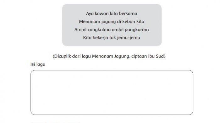 Isi Dan Tempo Yang Sesuai Lagu Menanam Jagung Ciptaan Ibu Sud Tribun Padang