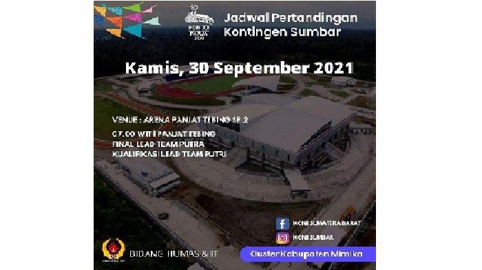 Jadwal Pertandingan Kontingen Sumbar Hari Ini di PON Papua 2021,Tim Dayung Berlaga di Kategori Kayak