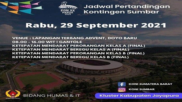 Jadwal Pertandingan Hari Ini Cabor Sumbar di PON XX Papua 2021, Tim Kriket Melaju ke Babak Semifinal