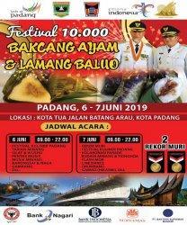 Festival 10 Ribu Bakcang Ayam dan Lamang Baluo Segera Digelar di Kota Padang