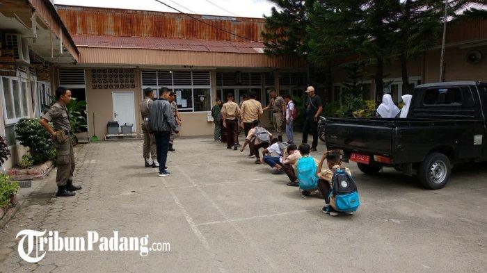 Lokasi Favorit Tempat Bolos 15 Pelajar yang Diciduk Satpol PP Padang hingga Disuruh Jalan Jongkok