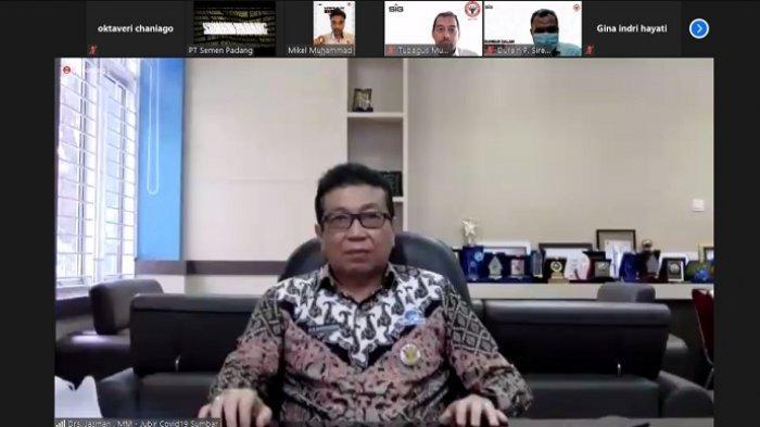 Webinar Series Covid-19 PT Semen Padang, Jasman Rizal: Positif Rate Sumbar Lampaui Ambang Batas WHO