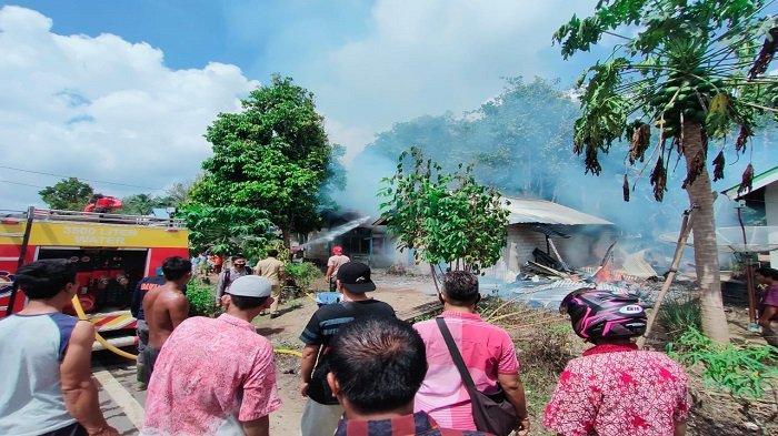 3 Rumah di Dharmasraya Ludes Terbakar, Trantibum dan Damkar Menduga Terjadi Korsleting Listrik