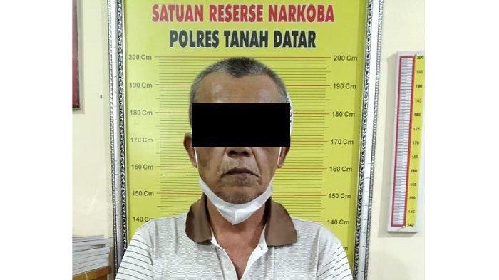 Kedapatan Simpan 3 Paket Sabu, Kakek 60 Tahun di Tanah Datar Ditangkap Polisi