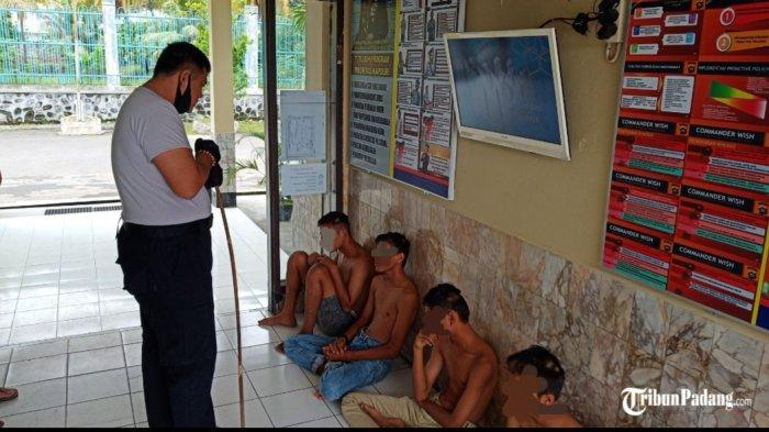 Polsek Lubeg Amankan Enam Remaja Terlibat Tawuran saat Sumbar Sedang Melaksankan PSBB