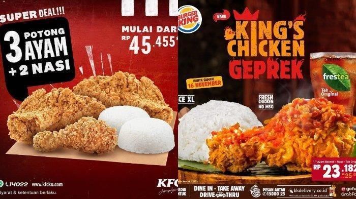 Katalog Promo Akhir Pekan: KFC, Burger King hingga Chatime, Ada Promo Super Deal Mulai Rp 45.455