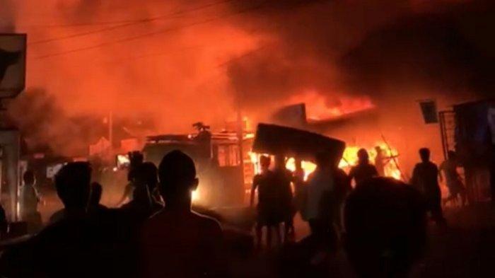 Terungkap Asal Muasal Api yang Membakar Pasar Kambang Pessel, Damkar: Bersumber dari Kedai Kopi
