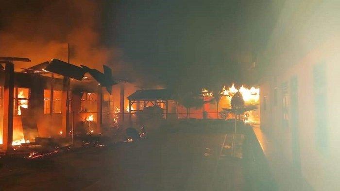 6 Ruangan Ponpes Nurul Iman Dharmasraya Hangus Terbakar, Polisi Sebut Kerugian Ditaksir Rp 550 Juta