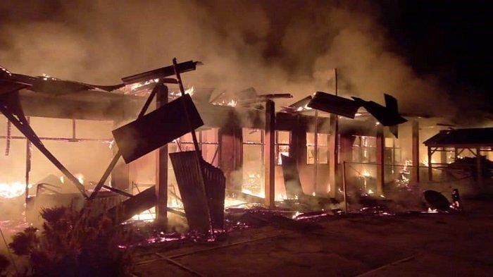 Update Kebakaran Pondok Pesantren Dharmasraya, Sebanyak 6 Ruangan Dilaporkan Terbakar