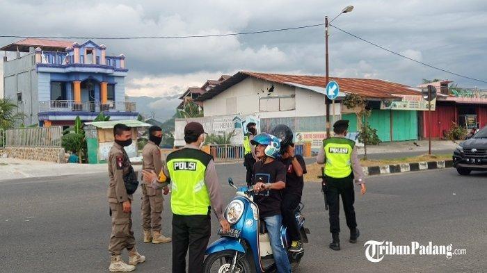 Jelang New Normal di Kota Padang, Aparat Suruh Putar Balik yang Tidak Memakai Masker