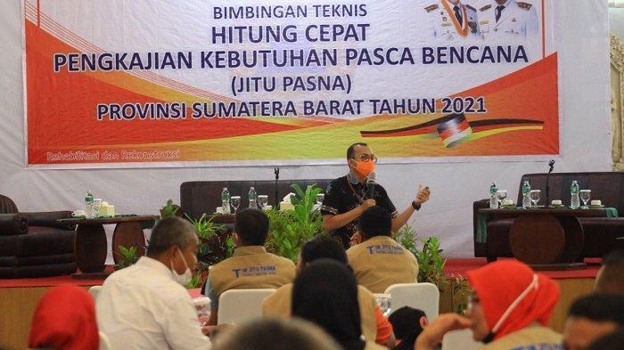 BPBD Sumbar Gelar Bimtek Jitu Pasna 2021, Terdiri dari 8 Angkatan