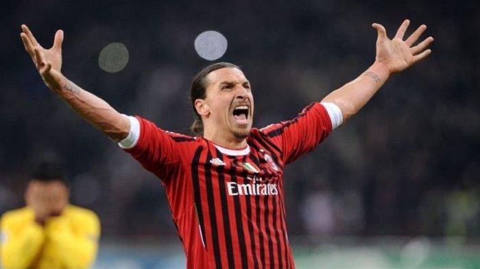 Pemain AC Milan Zlatan Ibrahimovic Jadi Pemain Tertua Cetak Gol Sepanjang Derby della Madonnina