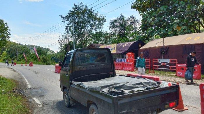LAGI, 30 Kendaraan yang Tiba di Pos Larangan Mudik 2021 Sumbar - Riau Disuruh Putar Balik