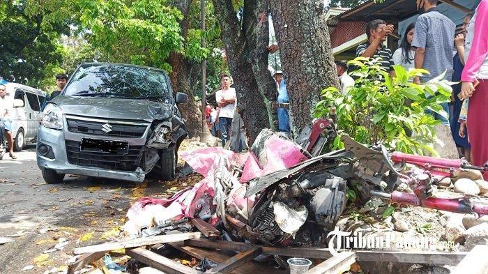 Tabrakan di Jalan Sutan Syahrir Padang, Warga Sebut Mobil Sempat Terbalik Sesudah Tabrak Motor