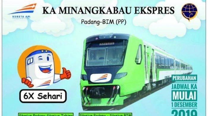 Simak! Jadwal dan Cara Pesan Tiket Kereta Api Minangkabau Ekspres