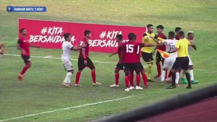Laga Semen Padang FC Vs PSPS Riau Berakhir Tanpa Gol, Sempat Ricuh di Ujung Pertandingan